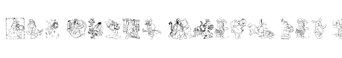 Preview of 001 Pooh Holiday Dings Regular