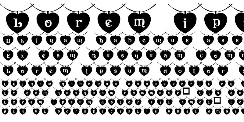 Sample of 101! Heart StringZ