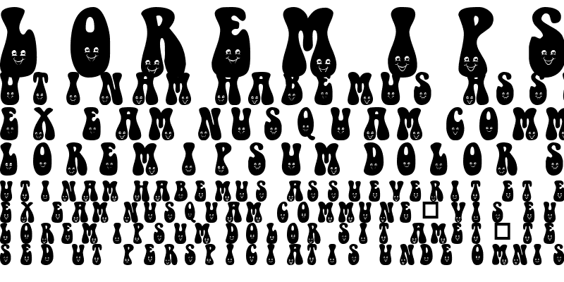 Sample of 101! One HappY Font