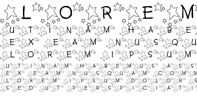 Sample of 101! Twinkle Twinkle Lit'l Font Regular
