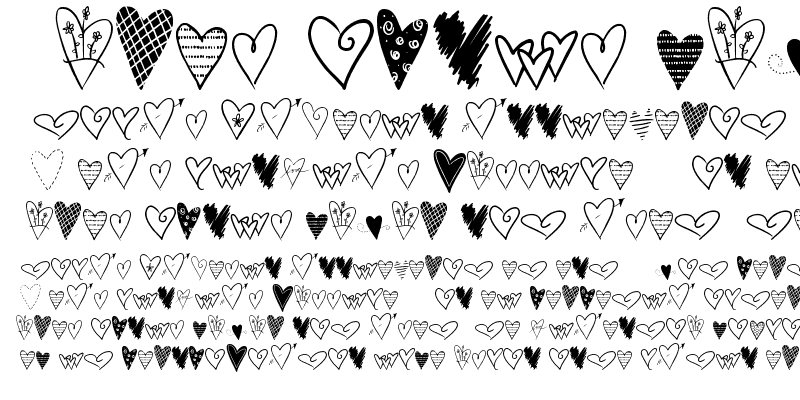 Sample of 2Peas Graphic Hearts