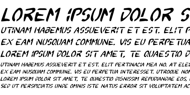 Sample of 2Toon Italic