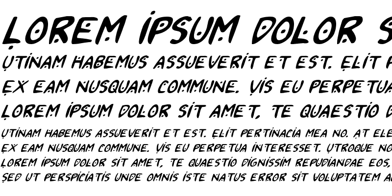 Sample of 2Toon2 Italic