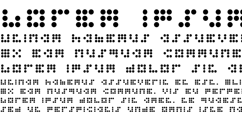 Sample of 3x3 dots Bold