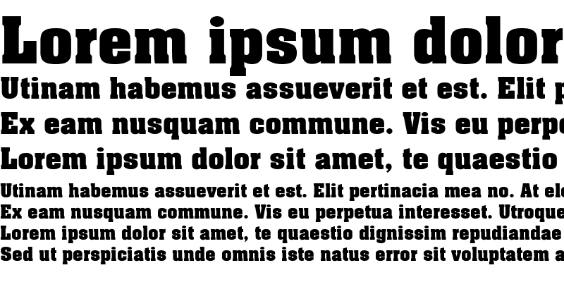 Sample of Aachen Bold LET