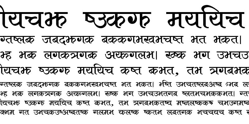 Sample of Aakar Regular