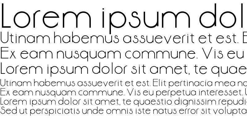 Sample of Aase Font