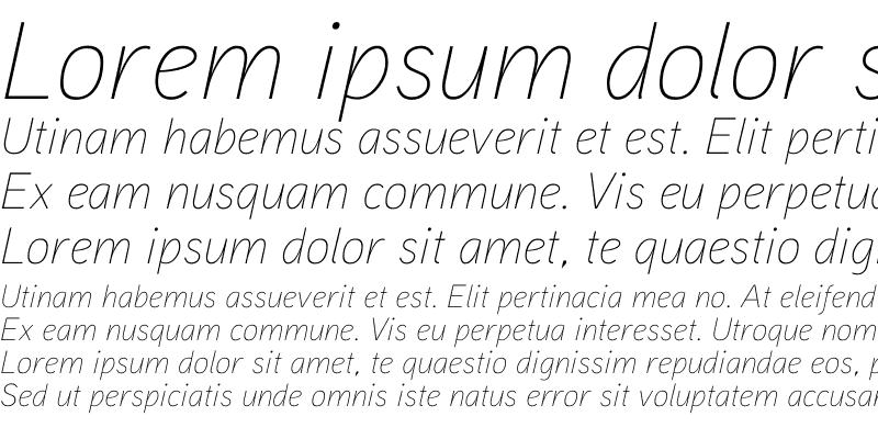 Sample of Aaux ProThin Italic OSF Regular