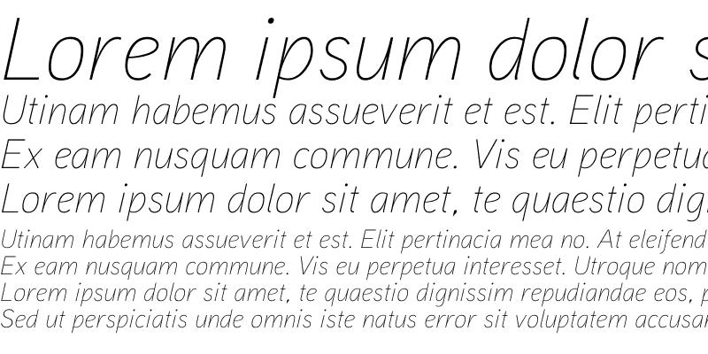 Sample of Aaux ProThin Italic Regular