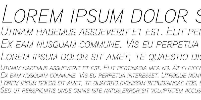 Sample of Aaux ProThin Italic SC Regular