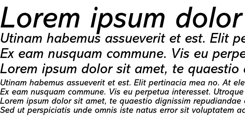 Sample of Abadi MT Std Italic