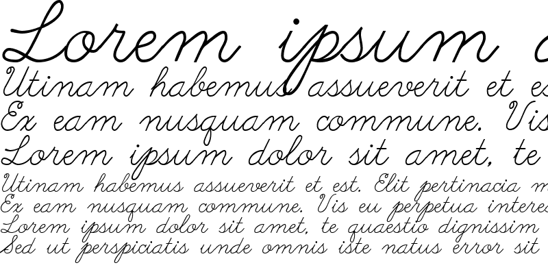 Sample of Abc Cursive