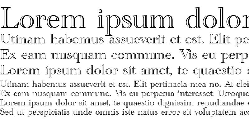 Sample of Academy Engraved LET Regular