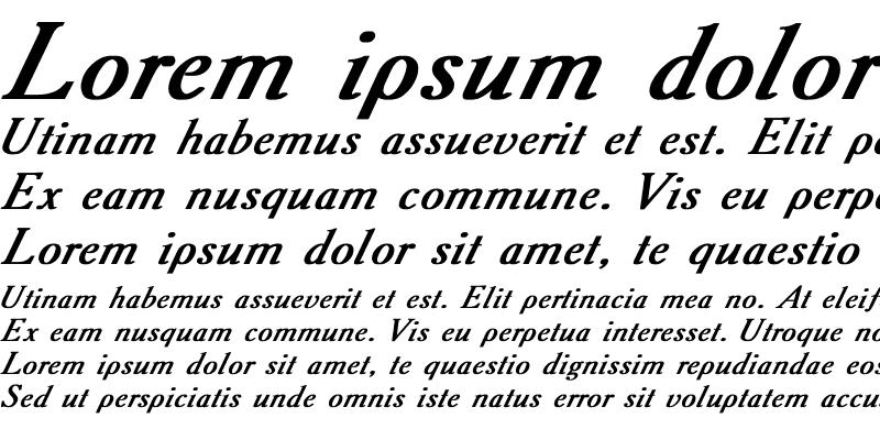 Sample of Academy Italic