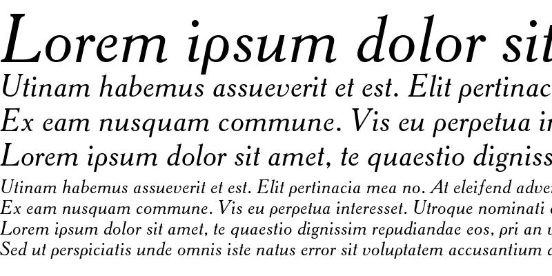 Sample of AcademyTT Italic