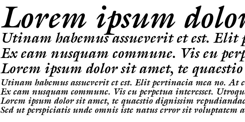 Sample of Acanthus SSi Bold Italic