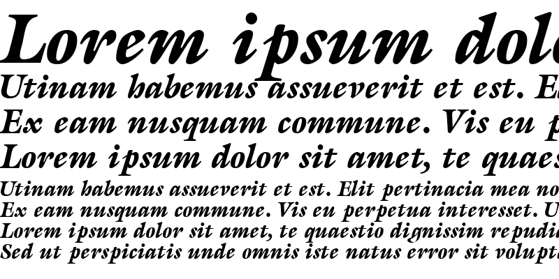 Sample of AcanthusBlackSSK Italic