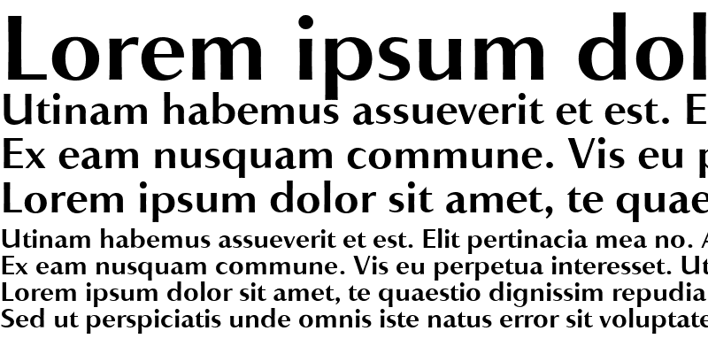 Sample of AccentGraphicBold