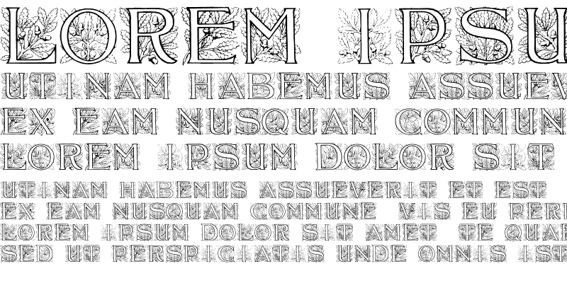 Sample of Acorn Initials