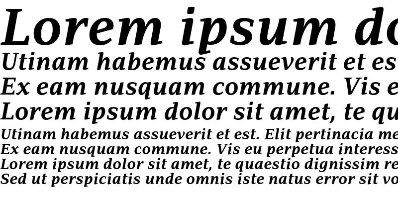 Sample of Adamant BG Bold Italic