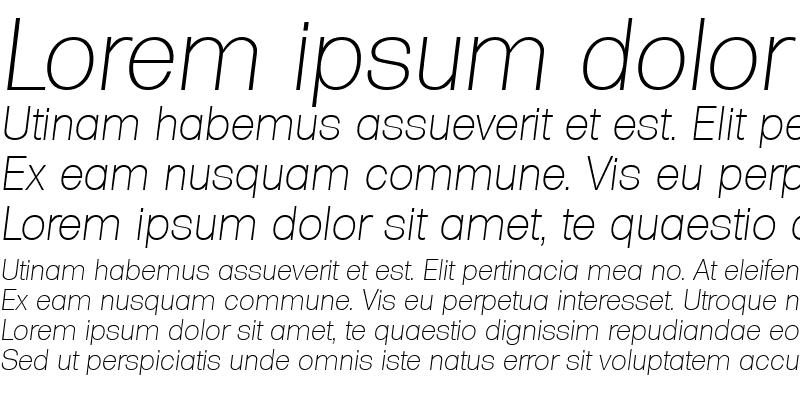 Sample of AdamBecker-ExtraLight Italic