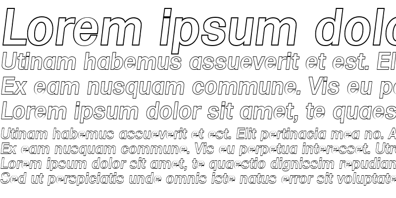 Sample of AdamBeckerOutline-Medium Italic
