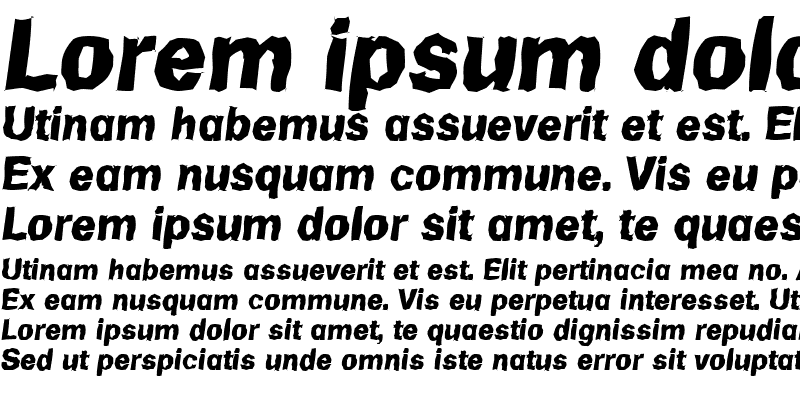 Sample of AdamBeckerRandom-ExtraBold Italic