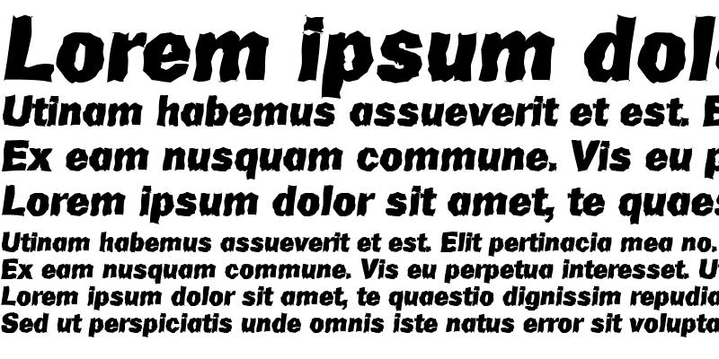 Sample of AdamBeckerRandom-Heavy Italic