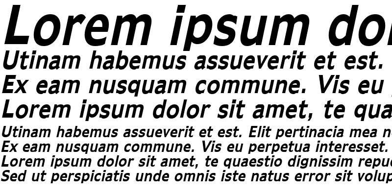 Sample of Adams Condensed Bold Italic