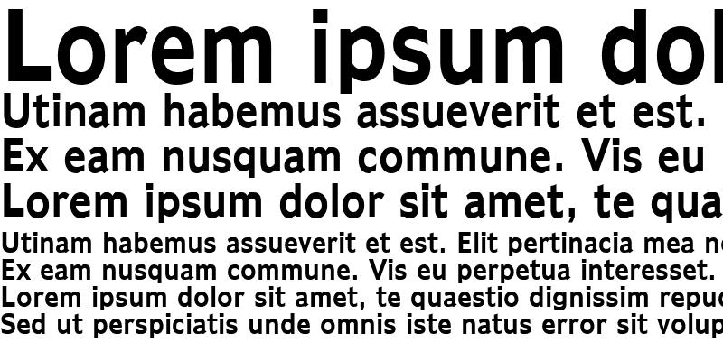 Sample of Adams Condensed Bold