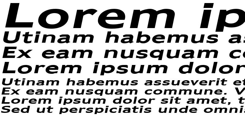 Sample of Adams Extended Bold Italic