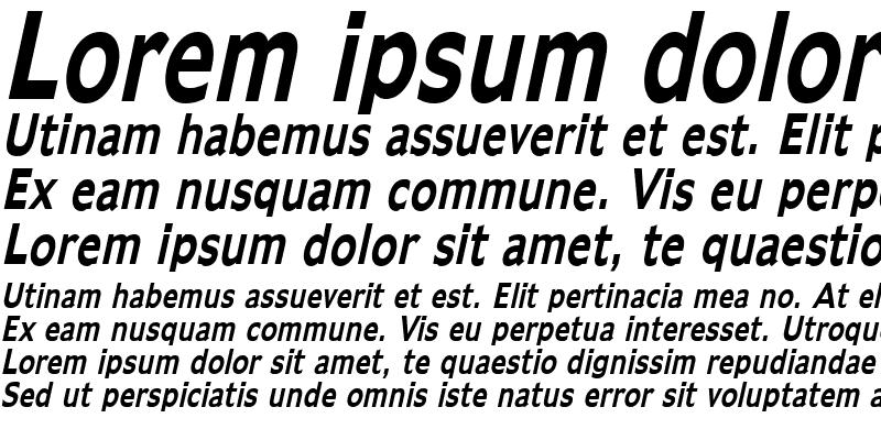 Sample of Adams Thin Bold Italic