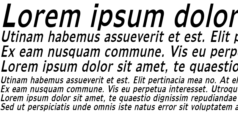 Sample of AdamsThin Italic
