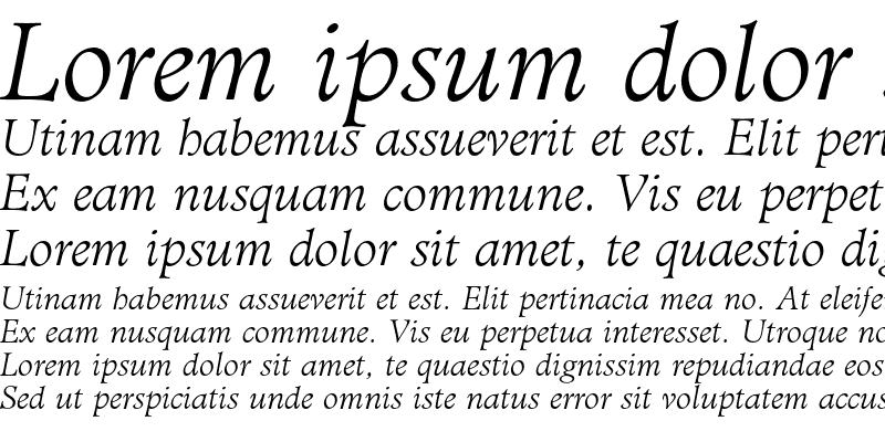 Sample of Administer AT Light Italic
