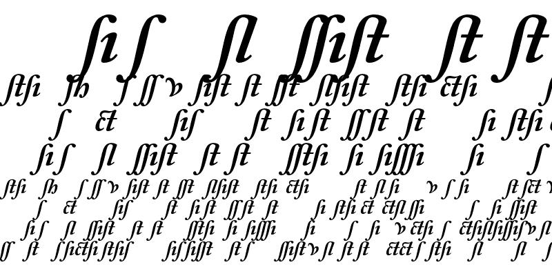 Sample of Adobe Caslon Alternate Bold Italic