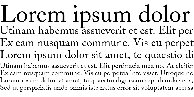 Sample of Adobe Caslon
