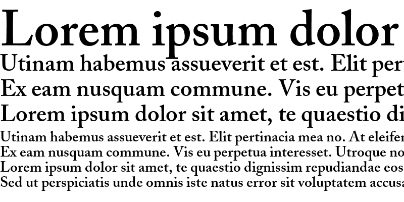 Sample of Adobe Caslon Semibold