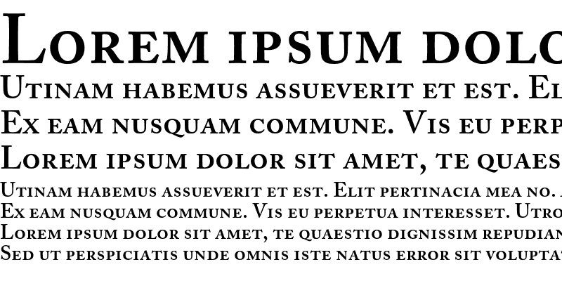 Sample of Adobe Caslon SemiboldSC