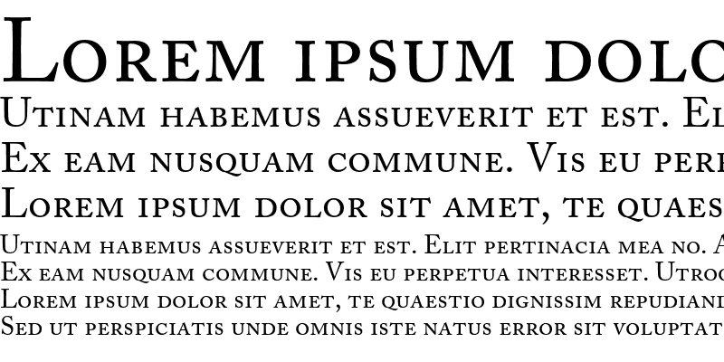 Sample of Adobe Caslon Small Caps & Oldst
