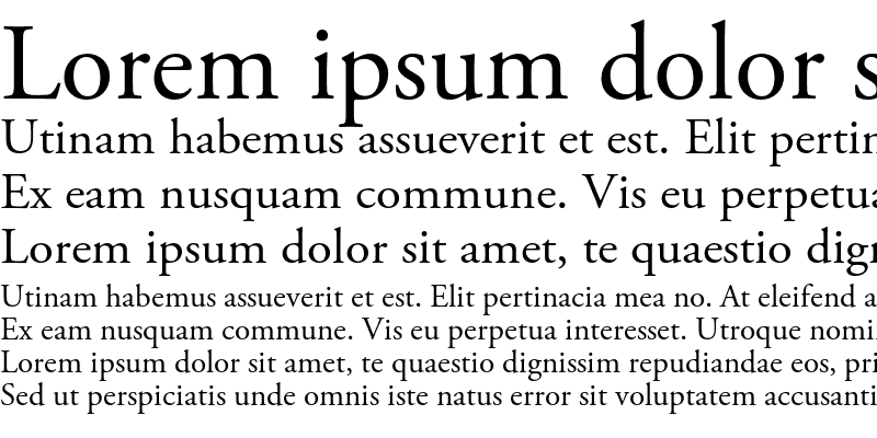 Sample of Adobe Garamond Pro Regular