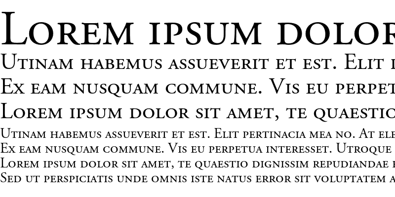Sample of Adobe Garamond SC