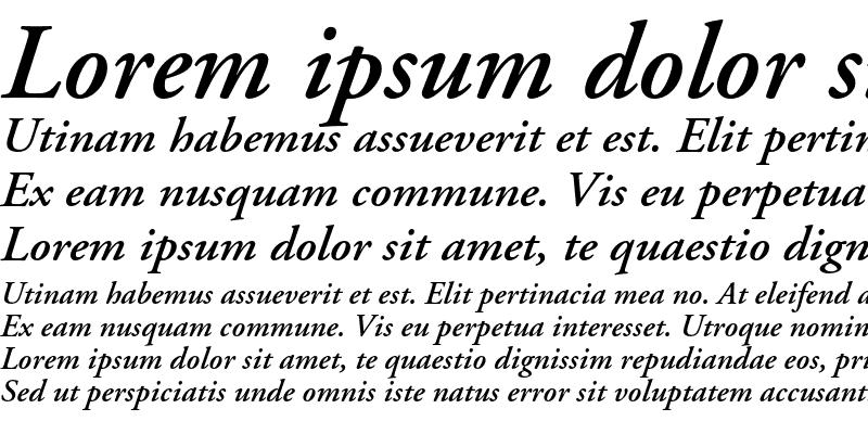 Sample of Adobe Garamond Semibold Italic OsF