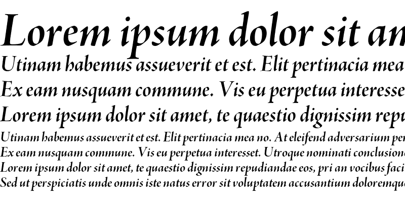 Sample of Adobe Jenson Pro Bold Italic Display