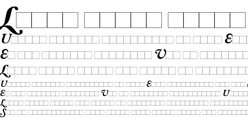 Sample of AdobeCaslonSwash