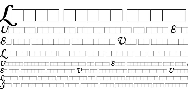 Sample of AdobeCaslonSwash-SemiBold