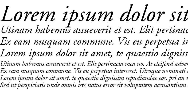 Sample of AdobeGaramond RomanItalic