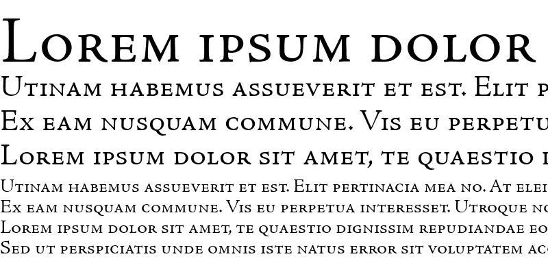 Sample of AdobeJensonSmallCaps Roman