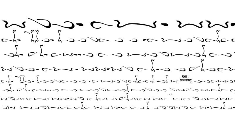 Sample of Aero Font One Swash