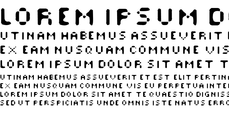 Sample of Afterfonts