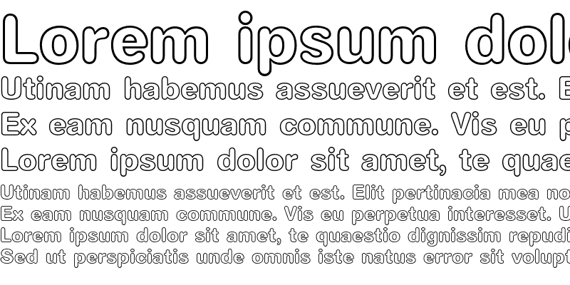 Sample of AG Book Rounded Bold Outline